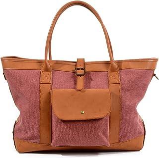 ZHANGBIN ZHANGBIN Einkaufstasche, Segeltuch, große Handtasche, Einkaufstasche, tragbar, Kontrastfarbe, Schultertasche, Kuriertasche Farbe: Weinrot