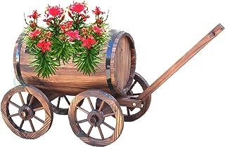 Large Barrel Wagon Planter