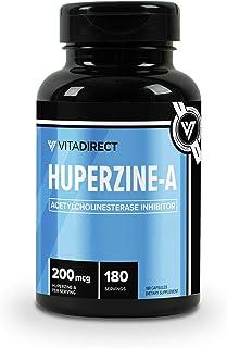 VitaDirect Premium Huperzine-A Capsules - 180 Servings, 200mcg per Serving