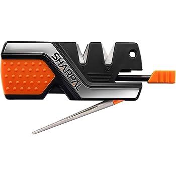 Sharpal 101N 6機能の包丁研ぎ器 ナイフ研ぎ器 小型でポータブルシャープナー 鋸歯状ナイフ&はさみ&釣り針研ぎ器 2段階シャープニングシステム 粗研ぎ 細研ぎ ダイヤモンド&セラミックスシャープナー ファイヤースターター付き