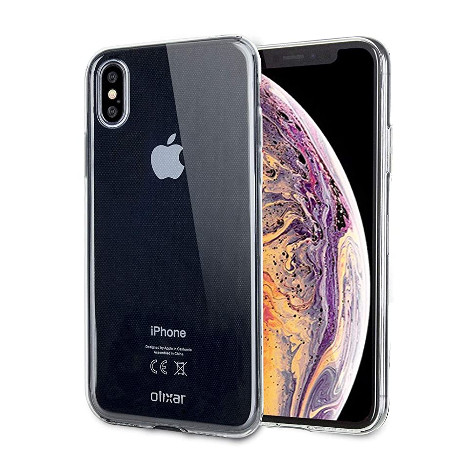 Olixar iPhone Xs Max Clear Case - Slim Gel - Ultra Thin Transparent Cover - 100% Crystal Clear - Flexible Slim Protection - Non Slip - Clear