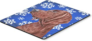 Caroline's Treasures SC9779MP Redbone Coonhound Winter Snowflakes Mouse Pad, Hot Pad or Trivet, Large, Multicolor