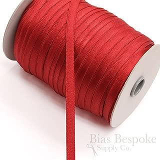 5 Yards of LEDA 11mm Plush Back Bra Strap Elastic, Tango Red, Made in Italy