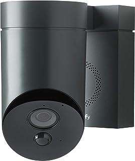 Somfy 2401563 – Outdoor Camera (Grijs) - Full HD camera met nachtzicht en krachtige sirene (110 dB)
