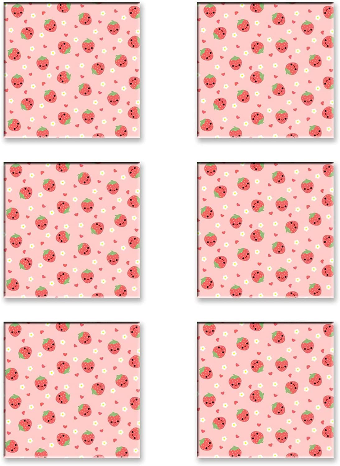 6 Pieces Square Drink Coaster shop Moisture 4inch Heat-Res All stores are sold Absorbing