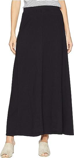 Classic Jersey Seamed Long Skirt