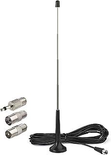 Bingfu FM DAB Radio Antenne Telescopische Indoor Radio Aerial 75 ohm F Plug Digitale met Magnetische Basis en 3 meter Verl...