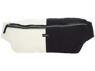 RVCA Split Up Crossbody Bag (Black) Handbags
