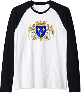 House of Valois Coat of Arms Capetian Dynasty Capet History Raglan Baseball Tee