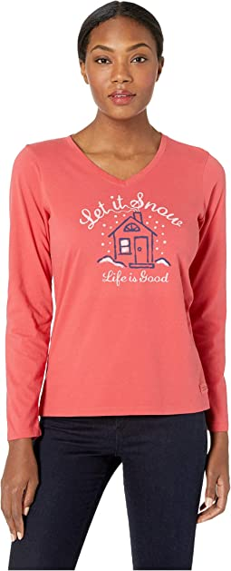 Let It Snow Home Crusher Long Sleeve Vee