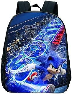 Sonic Super Mario - Bolsa escolar de 13 pulgadas Mario Bros Sonic Boom Erizo de jardín de infancia bolsas de libros para niños niños pequeños bolsa de regalo mochila