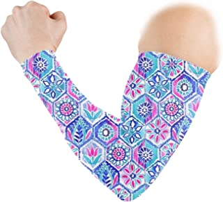 Portuguese Mosaic Sports Arm Sleeve, Athletic Sports Compression -Youth, Men & Women Athletes