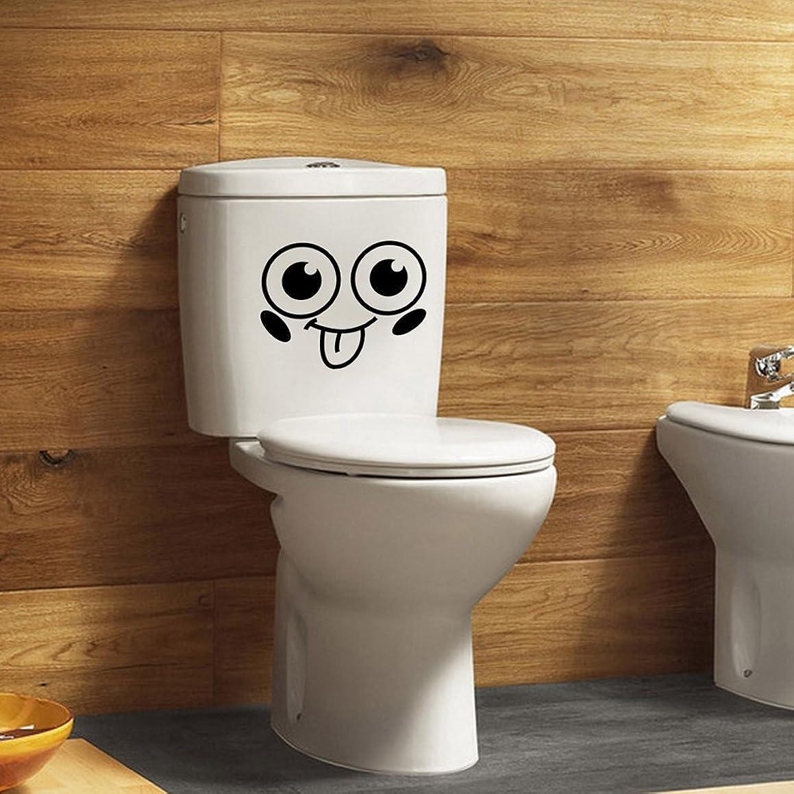 ぼかしアンドリューハリディかまどBaoblaze トイレ タンク 便器用 リムーバブル デコシール スマイルフェイス柄