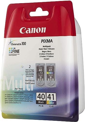 Canon PG-40/CL-41 Cartouches Multipack Noire + Couleur (Multipack plastique)
