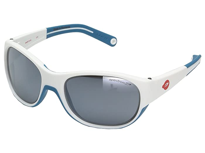 Julbo Eyewear Juniors  Luky Sunglasses (4-6 Year Old Boys) (White/Blue) Athletic Performance Sport Sunglasses