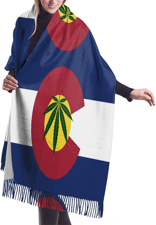 Leaf Colorado Flag Cashmere Feel Scarf Lightweight Soft Scarfs For Boys Girls Creative Warm Cold Weather Blanket Scarf