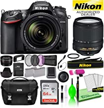 $1231 » Nikon D7200 DSLR Digital Camera with 18-140mm VR Lens (1555) USA Model Deluxe Bundle -Includes- Sandisk 64GB SD Card + Nikon Gadget Bag + Filter Kit + Spare Battery + Telephoto Lens + More