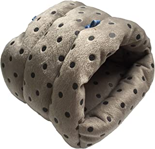 WOWOWMEOW Small Animals Warm Hanging Cage Cave Bed for Hamsters, Guinea-Pigs, Rats and Chinchillas (M, Dot-Grey)