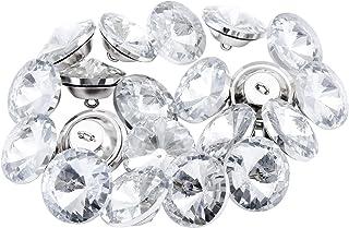 Nuevo Diamante Aro botones para sofá cabecero Tapicería Decoración del hogar 10 piezas X 22MM