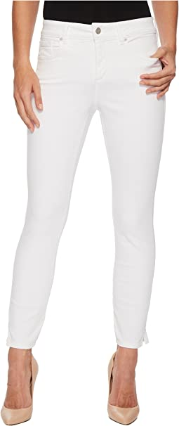 NYDJ Ami Skinny Ankle w/ Slit Clean in Optic White