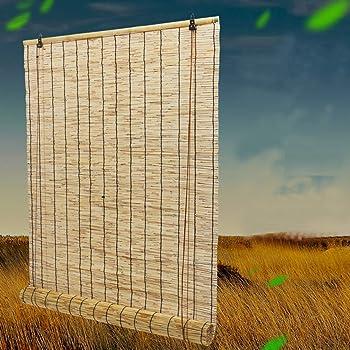 XZRR Estores De Bambu- Persianas De Caña -Persianas De Bambú -con 70% De Protección UV,Filtrado De Luz,Sistema De Elevación, Persiana Estor Enrollable De Bambú Natural 39X79 Pulgadas: Amazon.es: Hogar