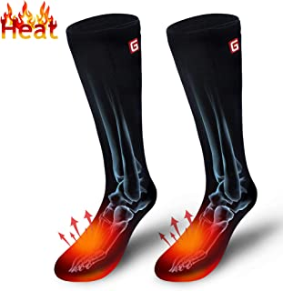 Electric Heated Socks Rechargeable Battery Heat Sox Kit for Men Women,Unisex Winter Warm Battery Powered Heating Thermal Stockings,Novelty Sports Outdoor Heated Socks Motorcycling Skiing Foot Warmer