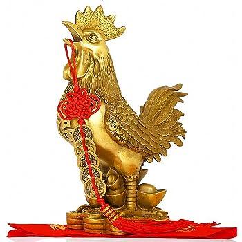 Brass Rooster Statue Feng Shui Handmade Chicken Figurine Collection Home Decor CHANGSHENG BRONZE TECHNOLOGY CO.LTD.