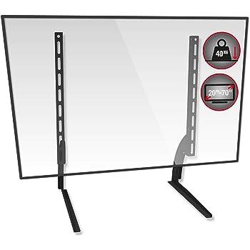 TTAP - Soporte de pie universal para TV (altura ajustable, patas de metal, para televisores de 20