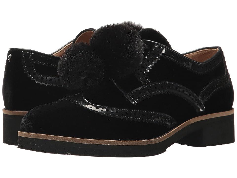 Sam Edelman Dahl (Black Silky Velvet/Brush-Off Box Leather) Women