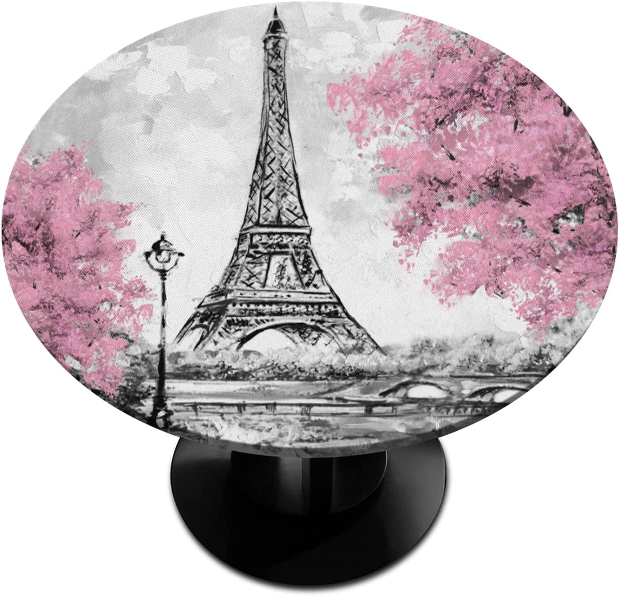 Round Fitted Tablecloth with Elastic Eiffel We OFFer at cheap prices Tower Edged Blossom supreme
