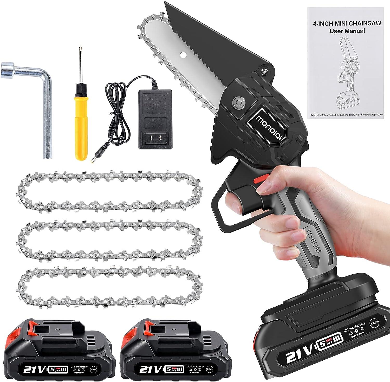 Mini Chainsaw with 3Pcs cheap Chain Bargain sale 4-Inch Cha Electric Small