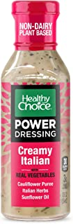 Healthy Choice Power Dressing Plant-Based Keto Friendly Salad Dressing, Creamy Italian, 12 oz.