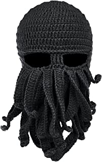 5e5317ea3de Beard Hat Beanie Hat Knit Skull Hat Winter Warm Octopus Hat Cable Knit High  Bun Ponytail