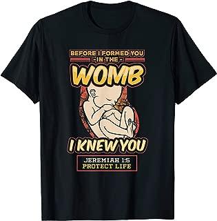 Pro-life Jeremiah 1:5 Tshirt
