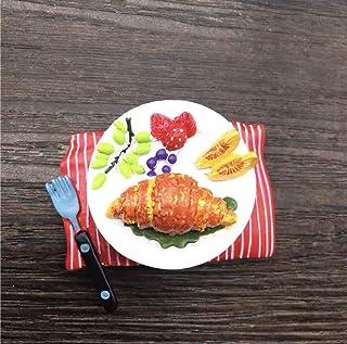Ixora Fridge Magnet Croissant Multi Colour 4 cm Tall 5 cm Wide Resin Cute Magnet