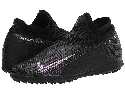 Nike Phantom VSN 2 Academy DF TF (Black/Black) Soccer Shoes