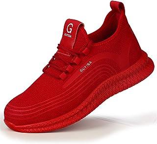 Lufria Zapatos de Seguridad para Mujeres,Zapatos de Trabajo Ligeros con Punta compuesta y Entresuela de Kevlar,Zapatillas ...