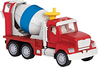DRIVEN by Battat – Micro Cement Truck – Toy Cement Truck with Light and Sound Effects..