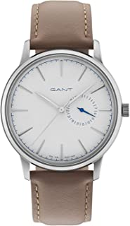 Gant Stanford Men Analogue Watch With White Dial And Light Brown Leather Strap - GT048007