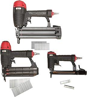 3PLUS HCBTF3SP Pneumatic Nail Gun Combo Kit with Finish Nailer, Brad Nailer & Fine Wire Stapler, 3-Piece Finish and Trim Kit