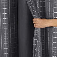 Cortina Blackout PVC com Tecido Voil Xadrez 2,80 m x 1,60 m Preto