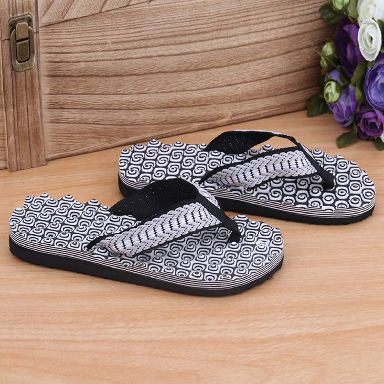 STVYtoy 2021 Indoor and Outdoor Men's Slippers Summer Flip Flops Men's Slippers Fashion Beach Casual Shoes Slippers Men Slides,D,41