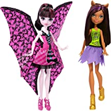 Monster High Ghoul-to-Bat Draculaura Doll and Cheerleading Clawdeen Wolf Doll