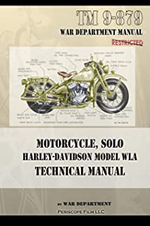 Motorcycle, Solo Harley-Davidson Model WLA Technical Manual