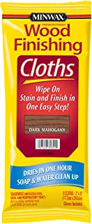 Minwax 308240000 Wood Finishing Clothes, Dark Mahogany