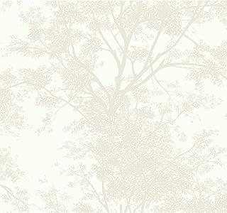 York Wallcoverings SW7510 Ashford House Tree Silhouette Sidewall Wallpaper Whites (Renewed)