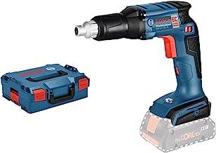 Bosch Professional GSR 18 V-EC TE Atornillador para placa de yeso, sin batería, en L-BOXX, 18 W, Negro/Azul