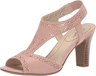 LifeStride Women's Channing Heeled Sandal, True Blush, 5 M US
