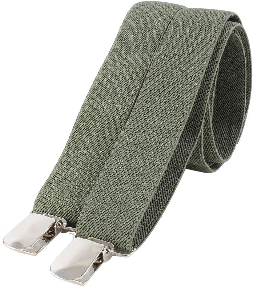 Knightsbridge Neckwear Mens Clip on Braces - Olive
