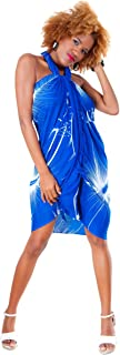 1 World Sarongs Women's Big Hibiscus Floral Swimsuit Cover Up Sarong